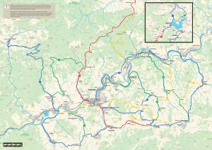 Cyklotrasy, mapa